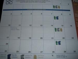 Calendário do Lixo 5