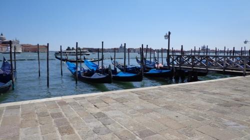 Gôndolas em Veneza.